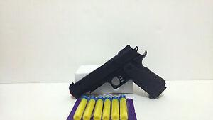 Foam Dart Gun Detective style pistol with 6 Foam Darts Police cosplay Pistol Toy