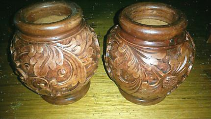 Wooden display pots home decor