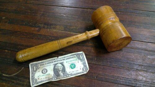 """Large Vintage Wooden Gavel Wood Hammer Mallet 12"""" Long"""