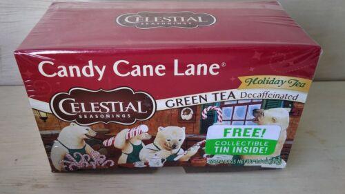 Celestial Seasonings Holiday Green Tea - Candy Cane Lane - D