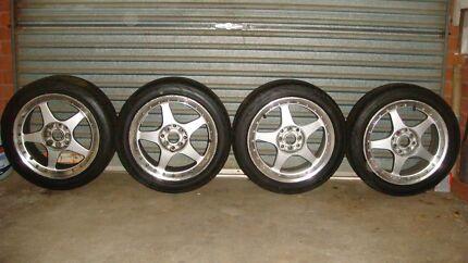 "4 x 16"" Alloy Wheels w/Near New Low Profile 205/45ZR16 87W Tyres Ellis Lane Camden Area Preview"