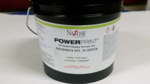 Nazdar PowerPrint UV Retail Display Screen Ink 6003899916 SPL GREEN, 1 GALLON