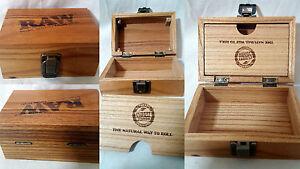Raw Box #Rawlife Wood Smoking Accessories Stash Storage 2 Free Raw Rizla Inc