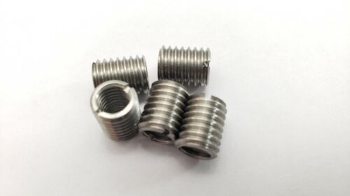 5 x THREAD ADAPTERS - M8 8MM MALE TO M6 6MM FEMALE - THREADED REDUCERS