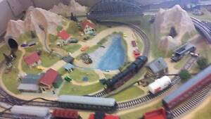 Model Train Track Layout & Trains Northbridge Perth City Area Preview
