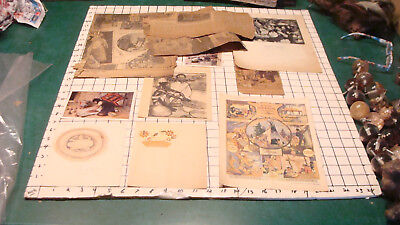 vintage lot of Native American newpaper stuff and other paper, inc drawing