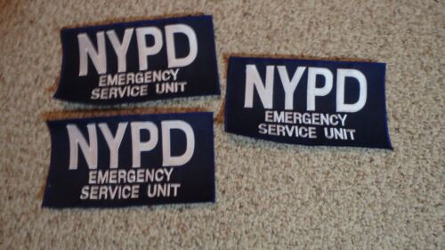 NEW YORK STATE POLICE EMERGENCY SERVICE ESU BDU BACK PATCH SWAT OBSOLETE