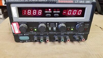 Sorensenxantrex Lt18-5 Laboratory Dc Power Supply 18v 5a