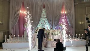 Indoor fireworks & dry ice for grand entrance for wedding