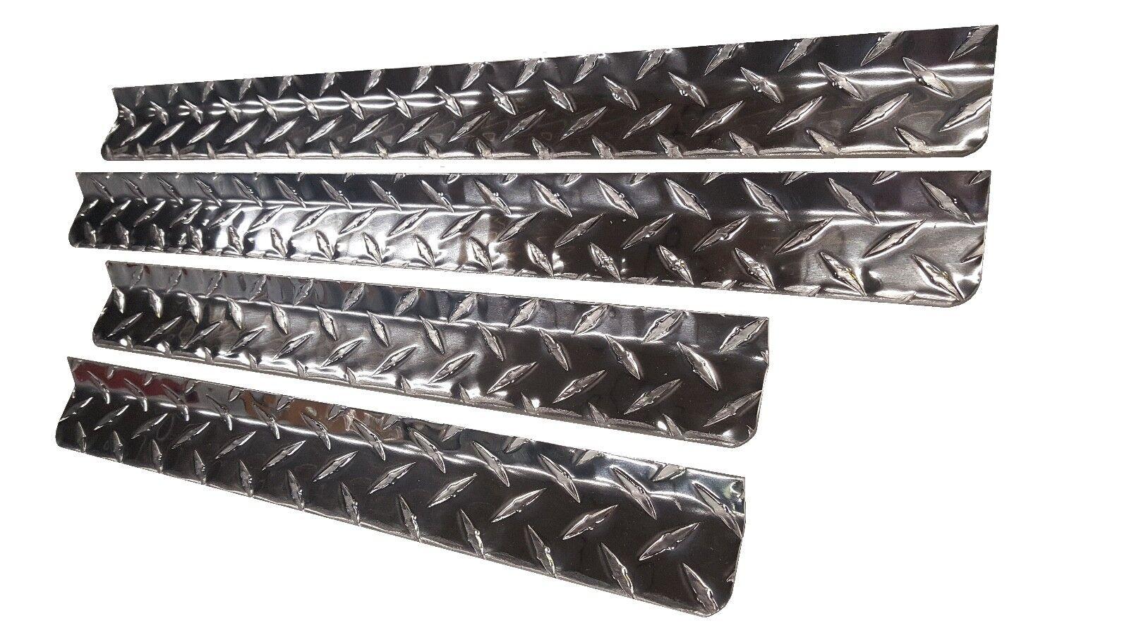 Diamond Plate Aluminum Dog Box Rain Guard Gutters Hunting SA