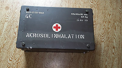 ALUKISTE Koffer PARI INHALATIONSGERÄT KOMPRESSOR BOX Bundeswehr