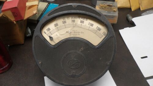 Large AntiqueRoller- Smith   Electrical Instrument  Meter