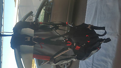 Paramotor, powered paraglider high hang point harness, seat
