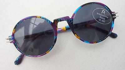 Rodenstock bunte Damen Sonnenbrille rund Vintage Sunglasses UV400 Marke size M