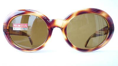Damen-Sonnenbrille 60s mit Echtglas ca 75% braun Hornoptik braun Primetta Gr. L