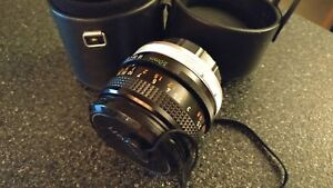 New Canon FD 50MM F/1.8 lens with case