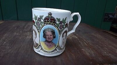 1990 Princess Margaret & Anne & Queen Mother's Birthday Mug with Portraits