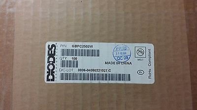 2 Pcs Gbpc2502w Diodes Inc 25a 200v Silicon Bridge Rectifier Diode Rohs