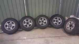 TYRES AND RIMS HILUX RODEO PAJERO LANDCRUISER TRITON Catherine Field Camden Area Preview