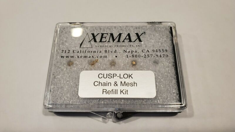 Xemax Surgical Products Cusp-lok Chain & Mesh 4pk Refill Dental 14k gold