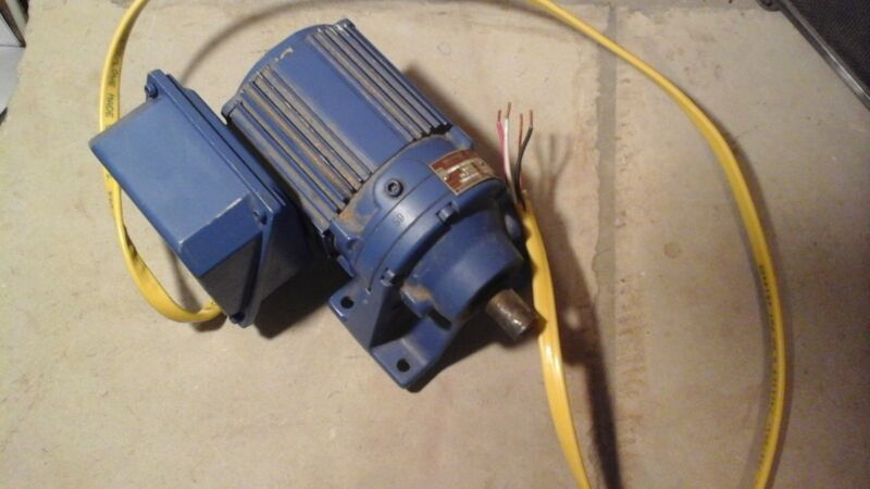 1/8 HP Ratio 59:1 Electric Motor 3 Phase Works