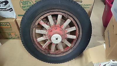 wooden spoke Plymouth wheel