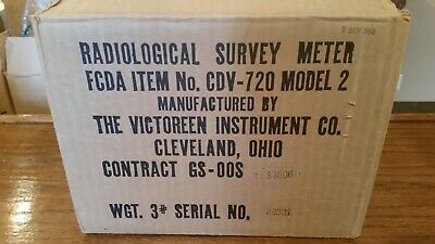 Cd V-720 Radiation Detection Survey Meter Geiger Counter Cdv-720 Model 2