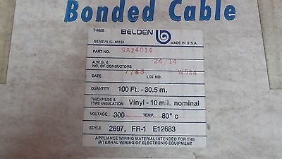 Flat Ribbon Cable New 24 Guage  14 Conductors Made By Belden 100 Foot Rolls