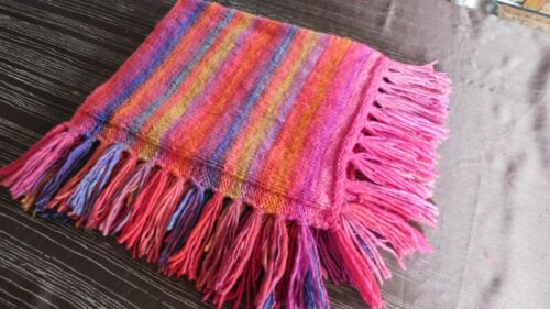 Hand Knitted Blanket for Small Pet - 100% Wool -