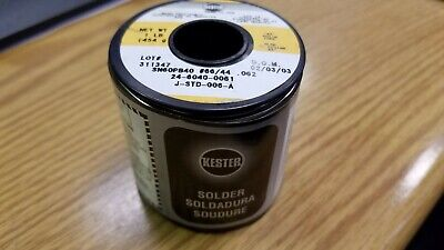 """1 pound roll .031/"""" Kester silver solder SN96.5AG03.5 SLD solid core eutectic USA"""