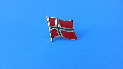 Norway Norwegian Flag Pin Badge Tie Tack! Brand New Scandinavia Scandinavian