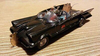 Vintage Corgi 1960s 70s Batman Batmobile #267 Die Cast Car Hitch Batman Figure
