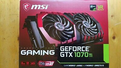 MSI NVIDIA GeForce GTX 1070 Ti 8Go GAMING (original package, used 2 months)