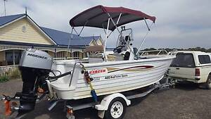 2003 4.85 baymaster stacer 75hp centre console fishing boat ski Lara Outer Geelong Preview