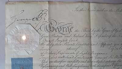 Royalty King George III Signed Military Document Signature Autograph Commission