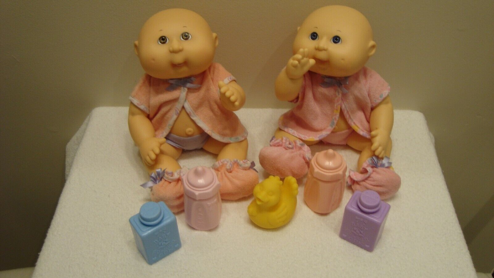 Cabbage Patch Kids Bath Care Baby Dolls 2 1993 Hasbro CPK  - $24.99