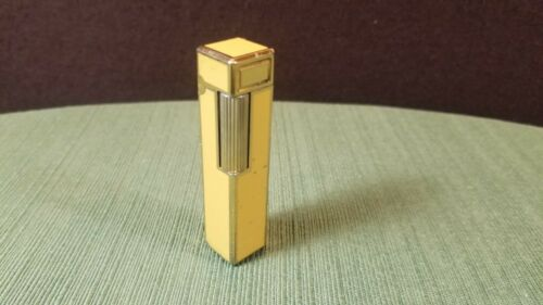 Colibri Rare Form Vintage Box Stick Yellow Gold Lighter Made in Japan