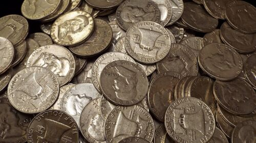 Franklin Half dollars, 90% Silver, Circulated, Choose your quantity