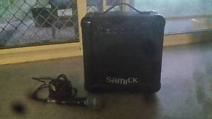 Samick amplifier and microphone Gold Coast Region Preview