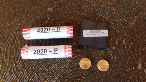 2020 P & D 2 rolls* Lincoln Penny Union Shield Cent with Bonus & Free Shipping