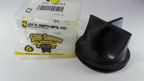"""(Qty 1) JAY R. SMITH MFG. CO 4"""" Pipe/Drain Stopper Quad Close Trap Seal 2692-04"""