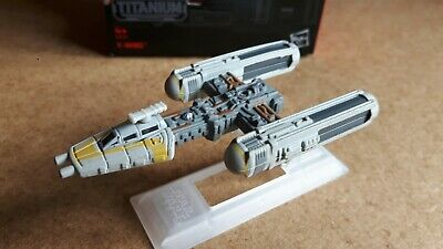 Star Wars The Black Series Titanium #8 Y Wing Fighter Hasbro Opened
