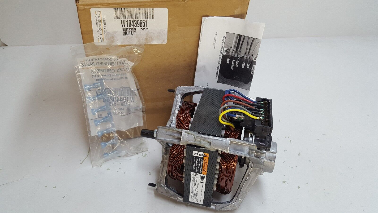 W10439651 WHIRLPOOL TRASH COMPACTOR DRIVE MOTOR *NEW PART*