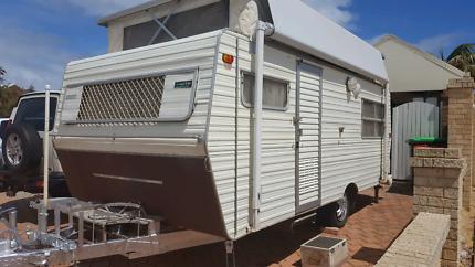 Retro pop up caravan.