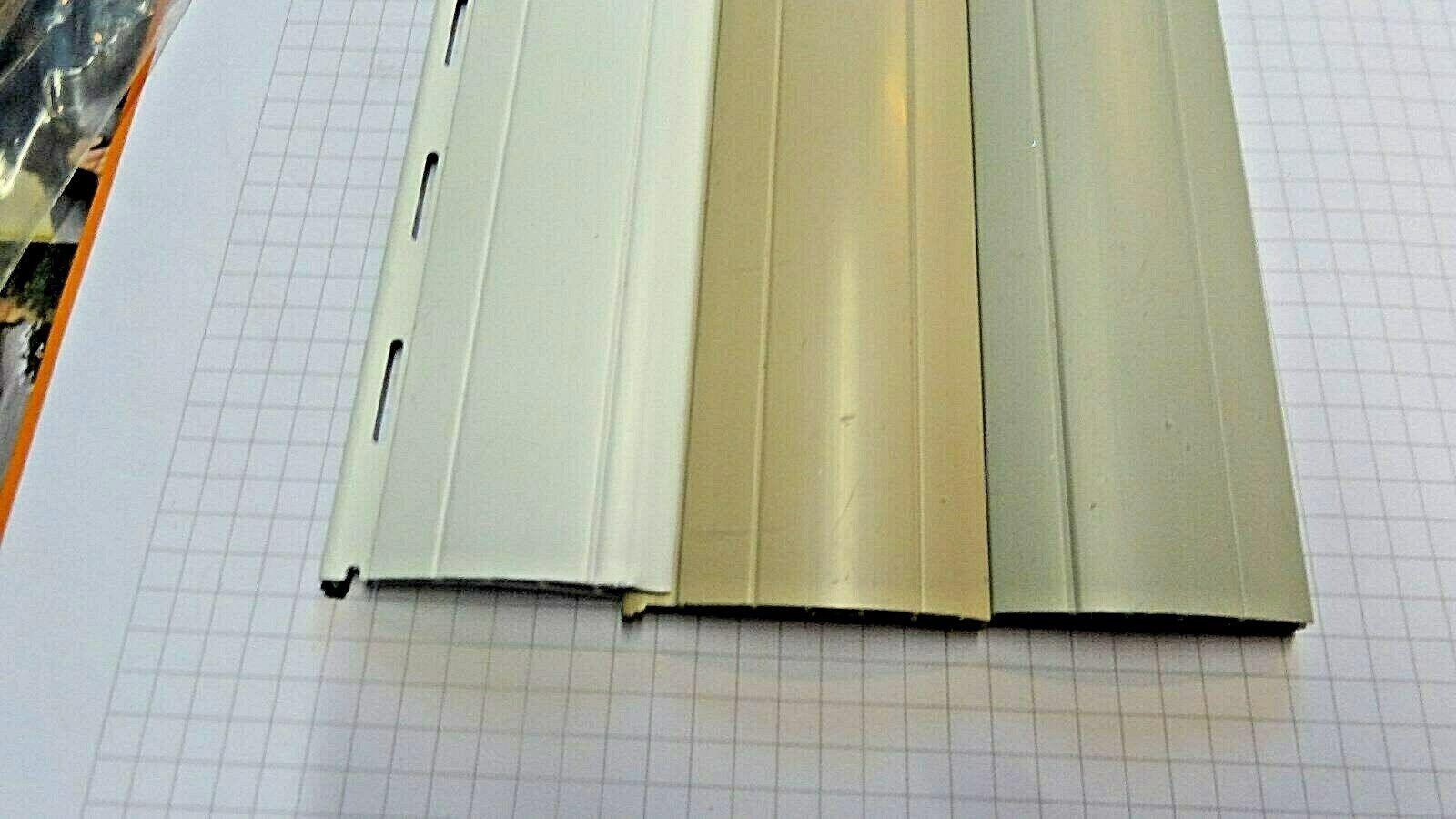 4 x PVC Rolladenlamelle Ersatz  Rollladenpanzer 52 mm Neu in 4 Breiten in Neu