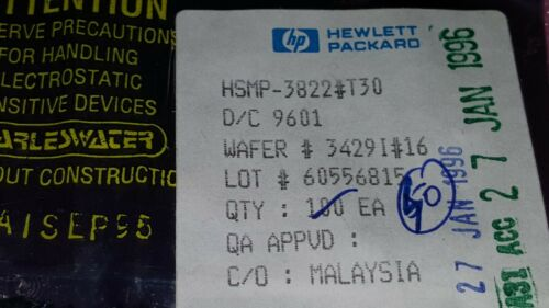 40x HP HSMP-3822#T30 , Pin Diode, 35V V(BR), Silicon , SOT-23