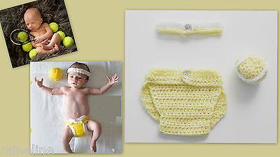 ★★★NEU Baby Fotoshooting Kostüm Kleine (r)  Tennisspieler (in) 0-3 (Tennis Spieler Kostüm)