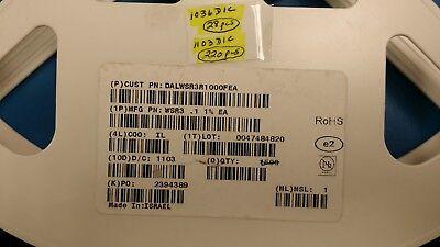 5 Pcs Wsr3r1000fea Vishay Current Sense Resistor 0.1 Ohm 3w 1 4527 Case Rohs