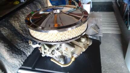 Holley 320 refurbished carby and air filter like new
