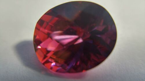 Malaya Garnet Pinkish Red to Violet Color Change 7.90 Cts. Oval Checkerboard Cut